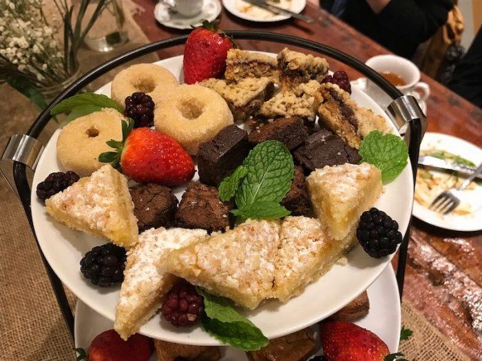 Desserts at afternoon tea at Just Add Honey Atlanta Beltline