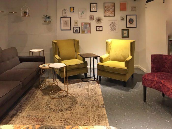Tea lounge at Just Add Honey Atlanta Beltline
