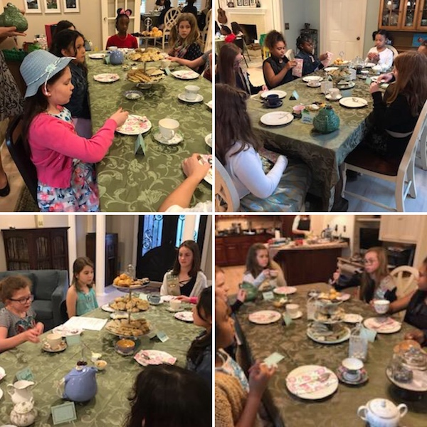 etiquette of afternoon tea at girl scout tea