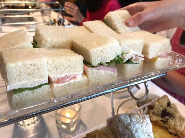 Tea sandwiches at Savannah Coffee Roasters Libertea service