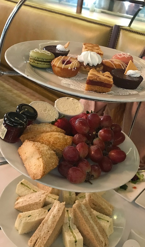 Afternoon tea tray at Gryphon in Savannah, GA