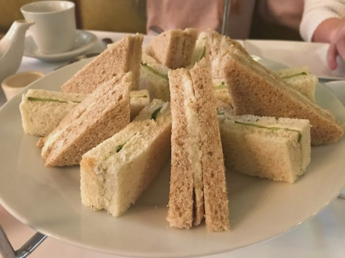 Tea sandwiches at Gryphon in Savannah, GA