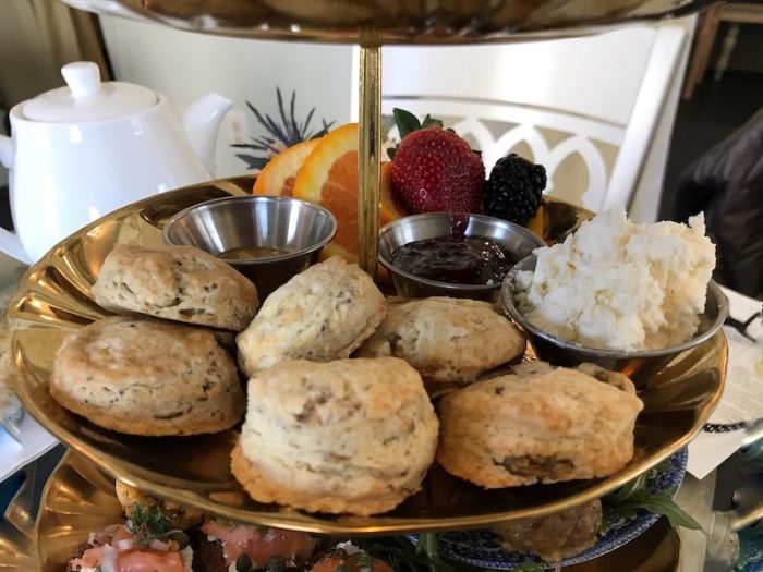 Scones and cream for Brunch Tea at Ivy Tea House