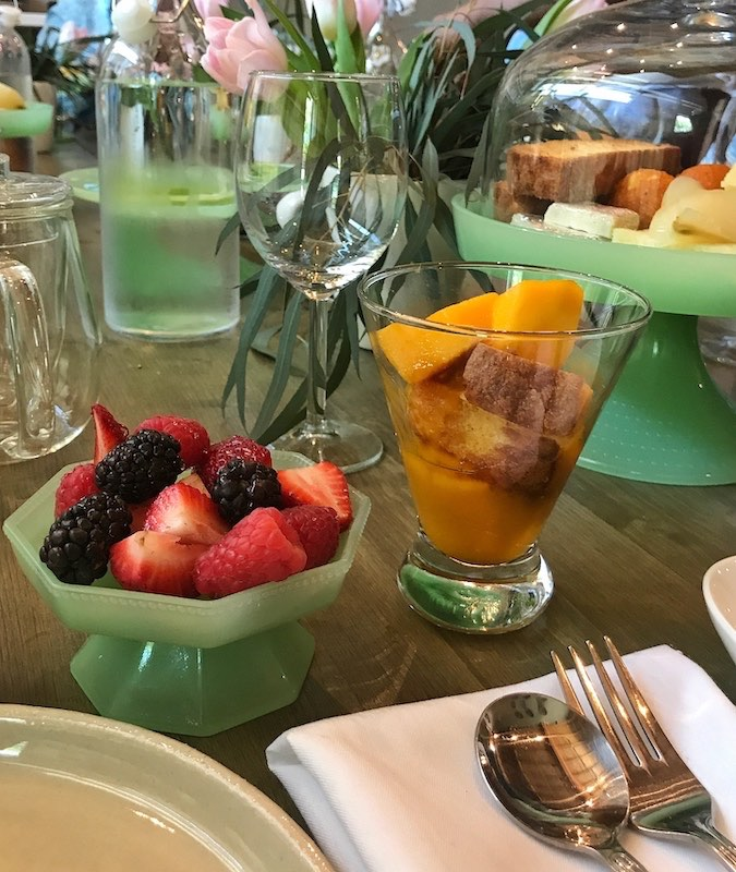 fresh fruit dishes at The Third Space in Atlanta, GA high tea