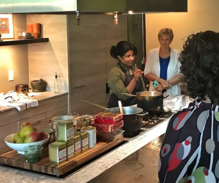 chai-making demonstration at The Third Space in Atlanta, GA with Asha Gomez