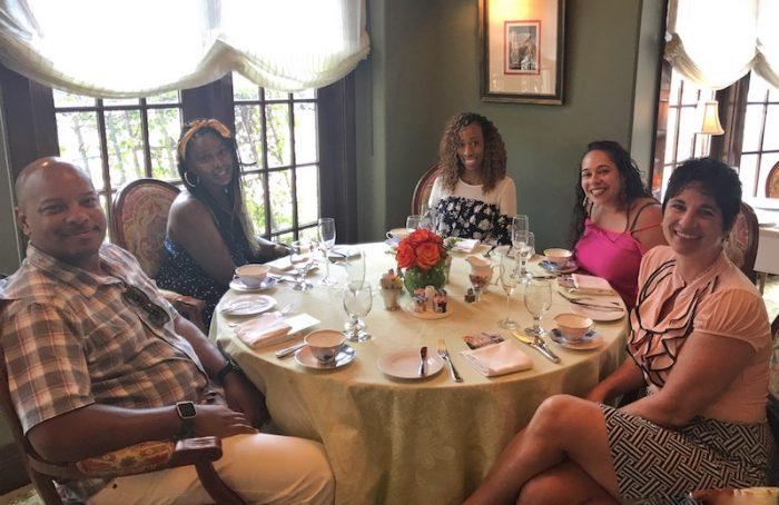 Friends at tea at Ristorante Cavour in Hotel Granduca Houston, TX