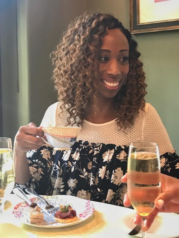 Champagne at Ristorante Cavour in Hotel Granduca Houston