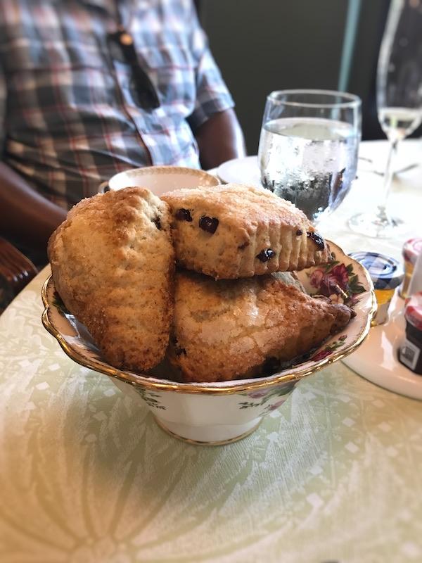 Cranberry scones at Ristorante Cavour at Hotel Granduca Houston