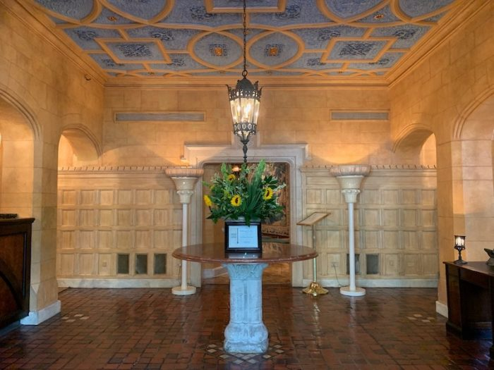 Lobby of Henley Park Hotel in Washington, D.C.