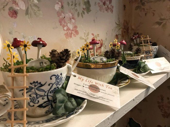 My Life with Tea teacups by Lynn Karegeannes