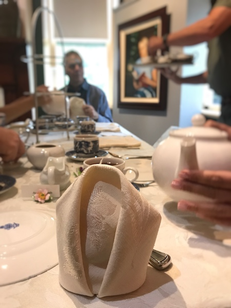 napkin folding at Smith-McDowell House Museum