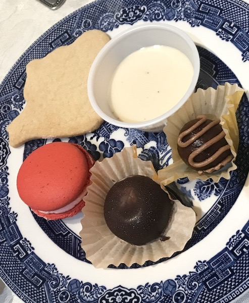 desserts at afternoon tea at Smith-McDowell House Museum