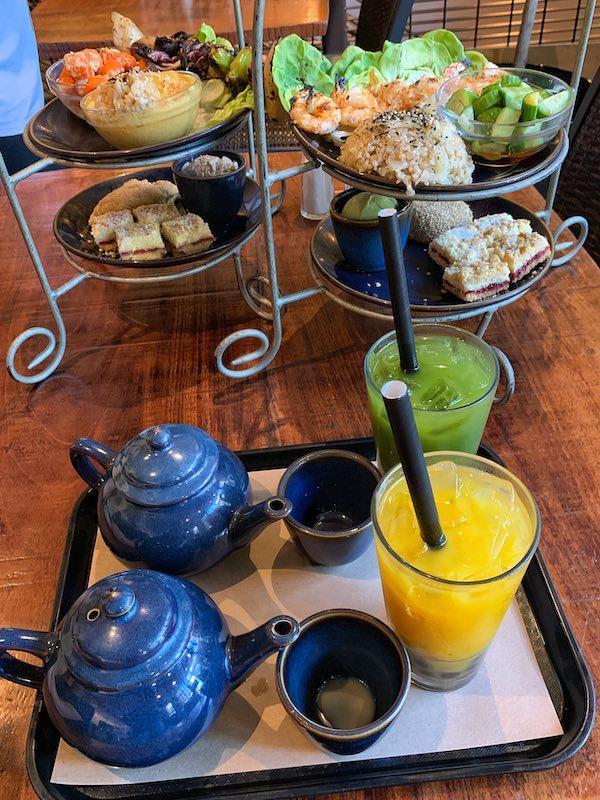 tea order at afternoon tea at Teaism Penn Quarter in Washington, DC
