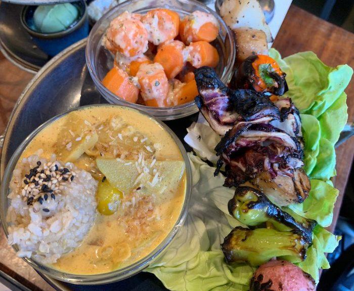 Savories of Indian afternoon tea at Teaism Penn Quarter in Washington, DC