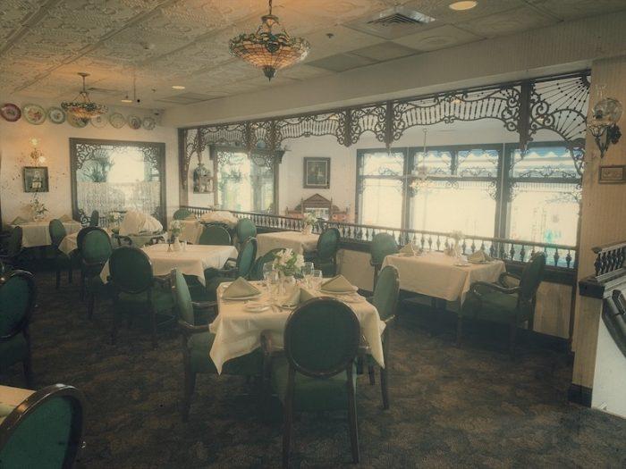 Victoria's Restaurant interior at Boardwalk Plaza Hotel in Rehoboth Beach, DE
