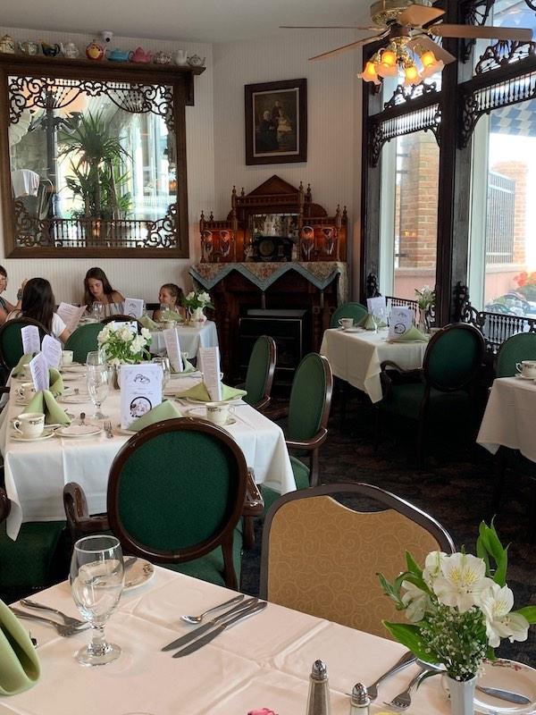 Victoria's Restaurant seating at Boardwalk Plaza Hotel in Rehoboth Beach, DE