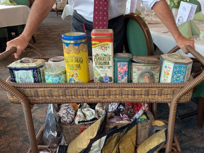 Cannisters for tea at Boardwalk Plaza Hotel in Rehoboth Beach, DE