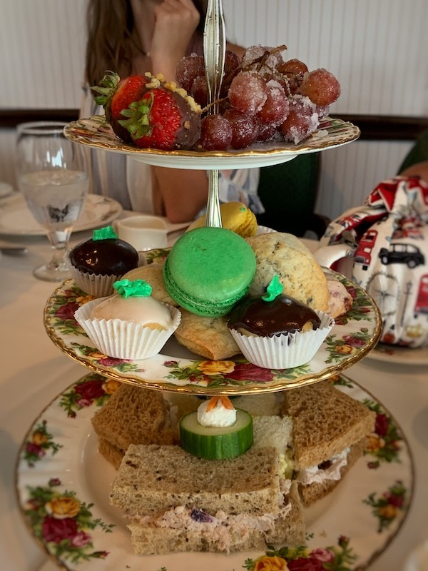 3 tiered tray at Boardwalk Plaza Hotel in Rehoboth Beach, DE