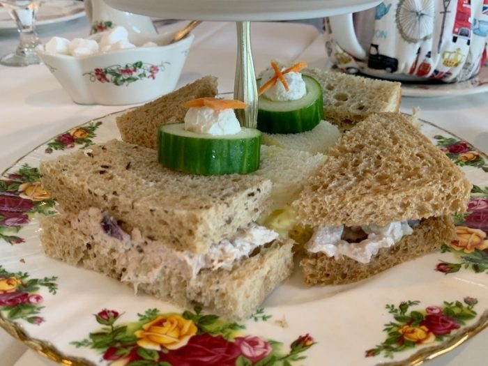 tea sandwiches at Boardwalk Plaza Hotel in Rehoboth Beach, DE