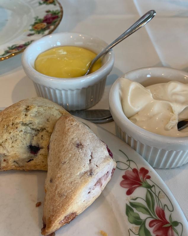 scones with lemon curd at Boardwalk Plaza Hotel in Rehoboth Beach, DE