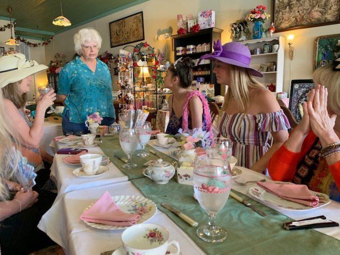 Sherry Gamble of The Main Street Enchanted Tea Room in Berlin, Maryland tearoom
