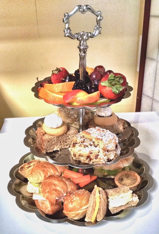 Afternoon tea tray at tea business for sale