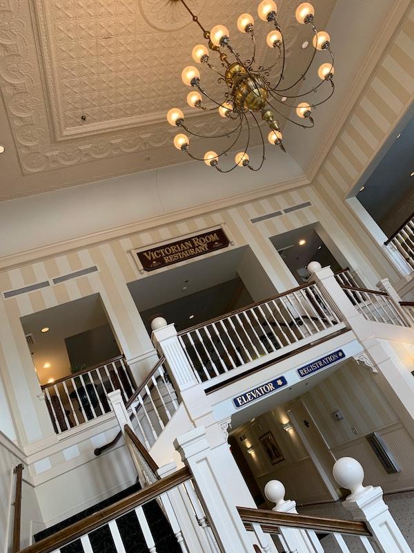 foyer of Dunes Manor Hotel in Ocean City, MD