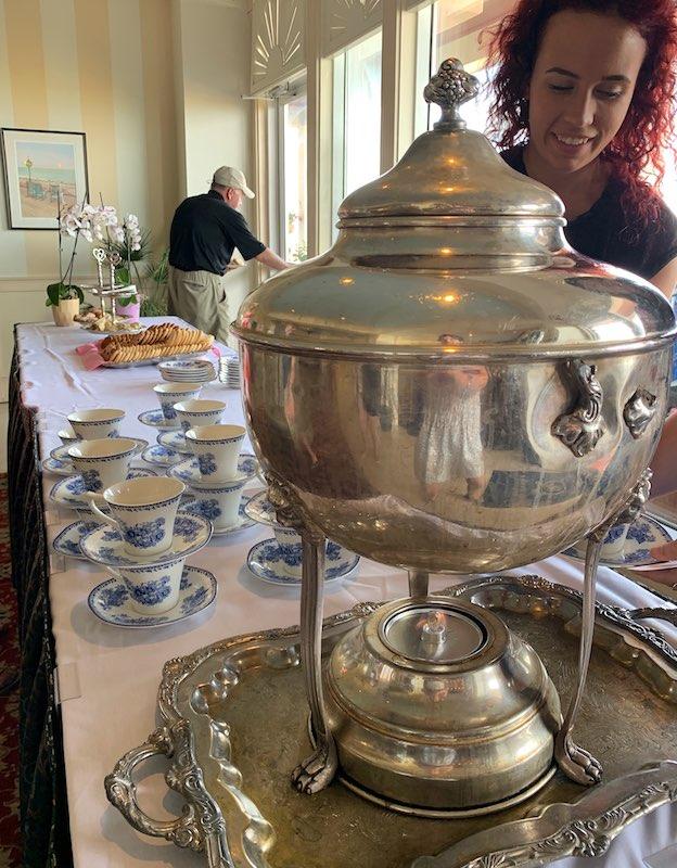 tea service at Dunes Manor Hotel in Ocean City, MD