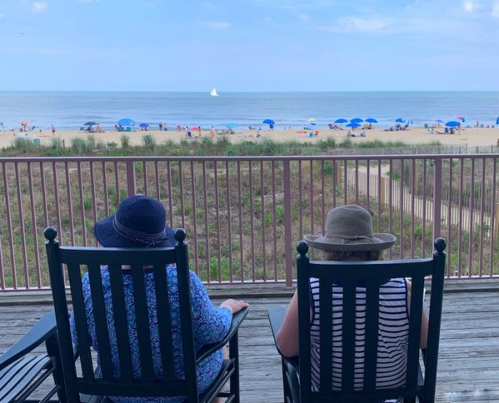 afternoon tea overlooking the ocean at Dunes Manor Hotel in Ocean City, MD