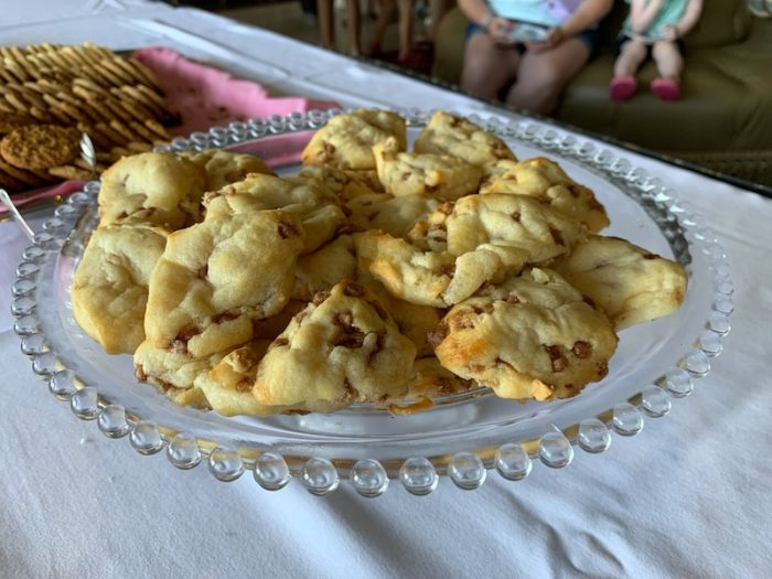chocolate chip cinnamon scones at afternoon tea at Dunes Manor Hotel in Ocean City, MD