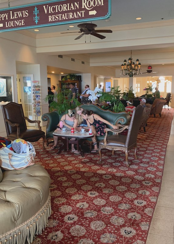 afternoon tea seating areas at Dunes Manor Hotel in Ocean City, MD