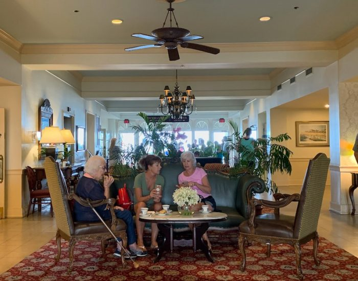 afternoon tea at Dunes Manor Hotel in Ocean City, MD