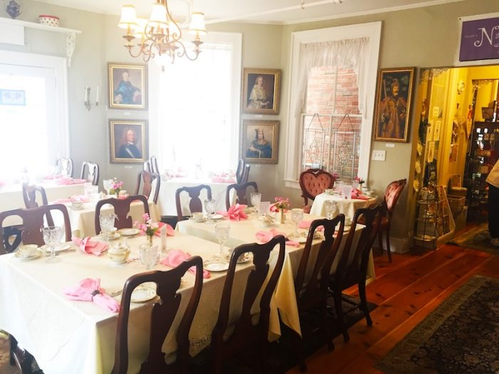 dining room at Lady Bedford's Tea Parlour & Gift Shoppe in Pinehurst, NC