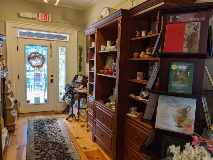 gift shop at Lady Bedford's Tea Parlour & Gift Shoppe in Pinehurst, NC
