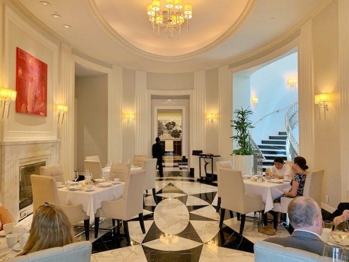 Rotunda where afternoon tea is served at Waldorf Astoria Atlanta Buckhead, GA