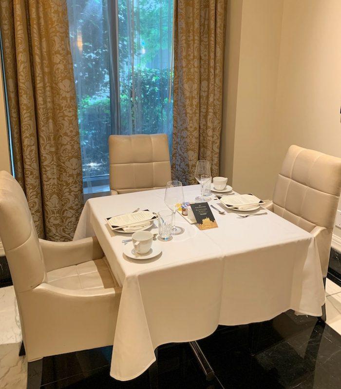 Secluded alcove for afternoon tea at Waldorf Astoria Atlanta Buckhead, GA