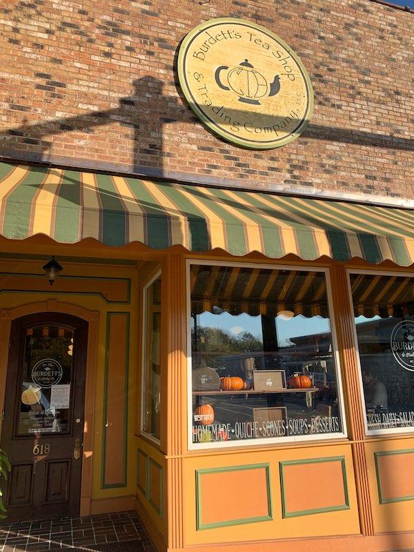 exterior Burdett's Tea Shop and Trading Company in Springfield, TN
