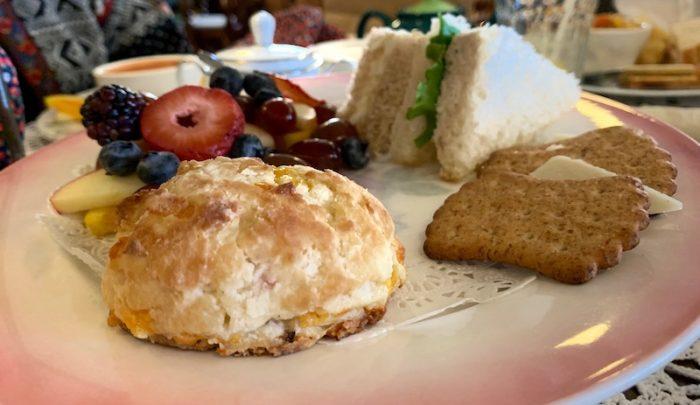 homemade scones at Burdett's Tea Shop and Trading Company in Springfield, TN
