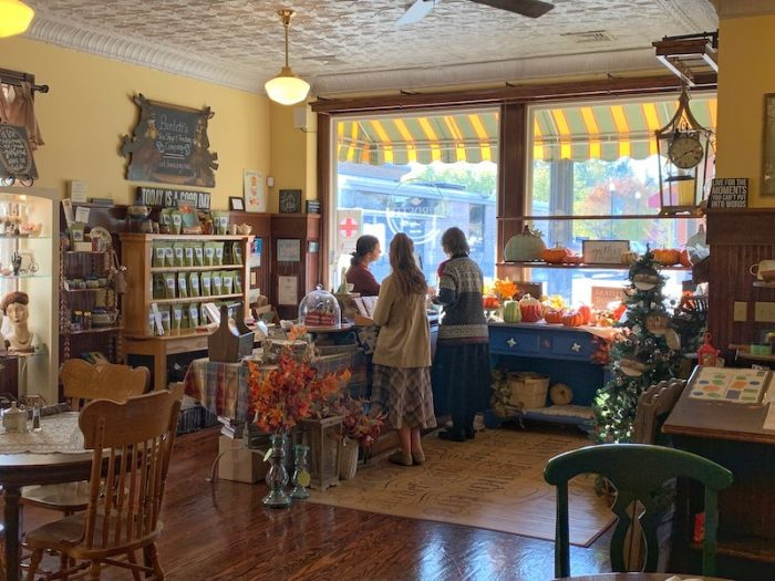 gift shop at Burdett's Tea Shop and Trading Company in Springfield, TN