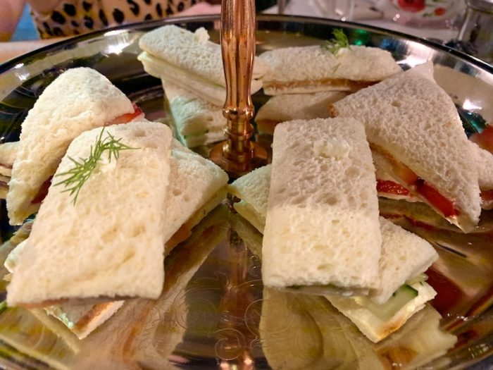 tea sandwiches at Bubble & Co. Tea Bar afternoon tea