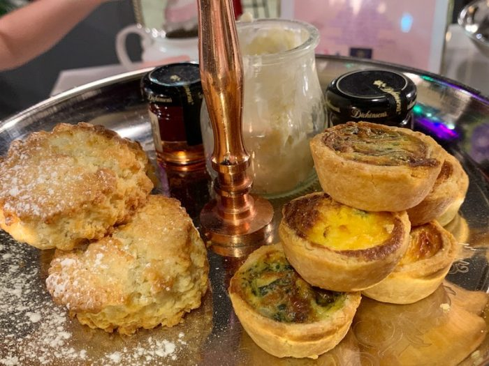 scones and quiche Bubble & Co. Tea Bar afternoon tea