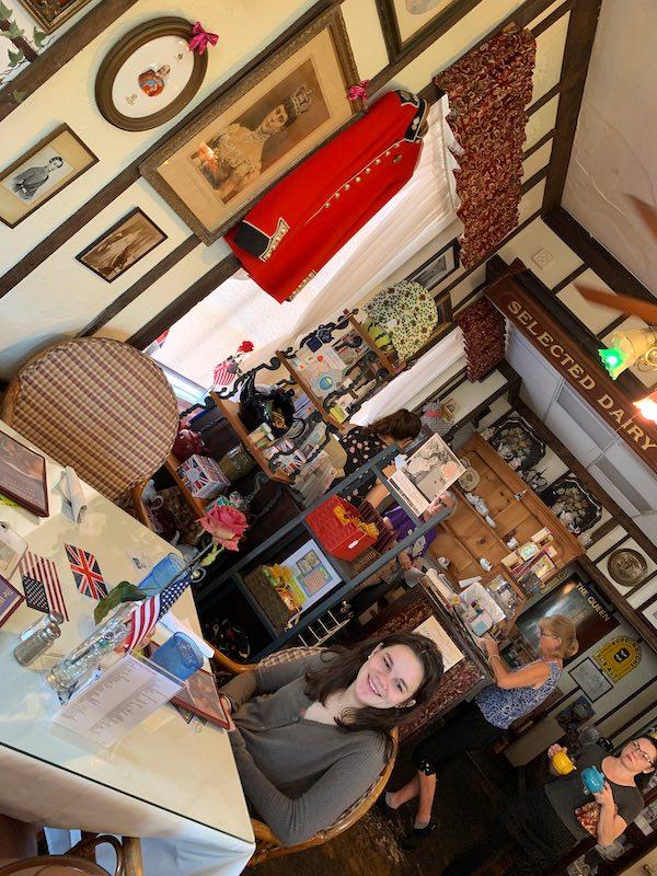 our table at Windsor Rose Tea Room & Restaurant for afternoon tea in Mount Dora, FL