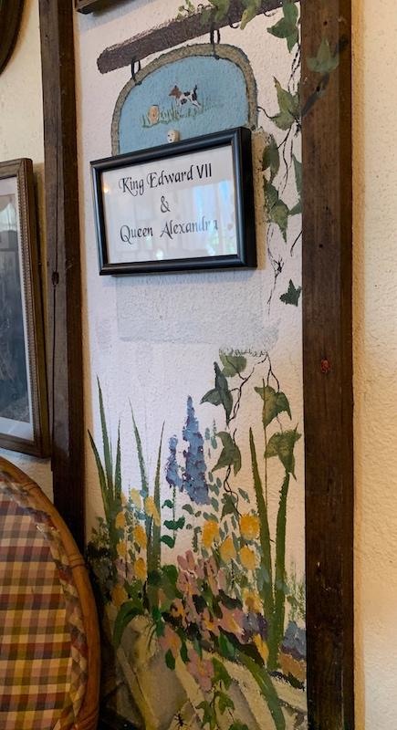 wall painting at Windsor Rose Tea Room & Restaurant for afternoon tea in Mount Dora, FL
