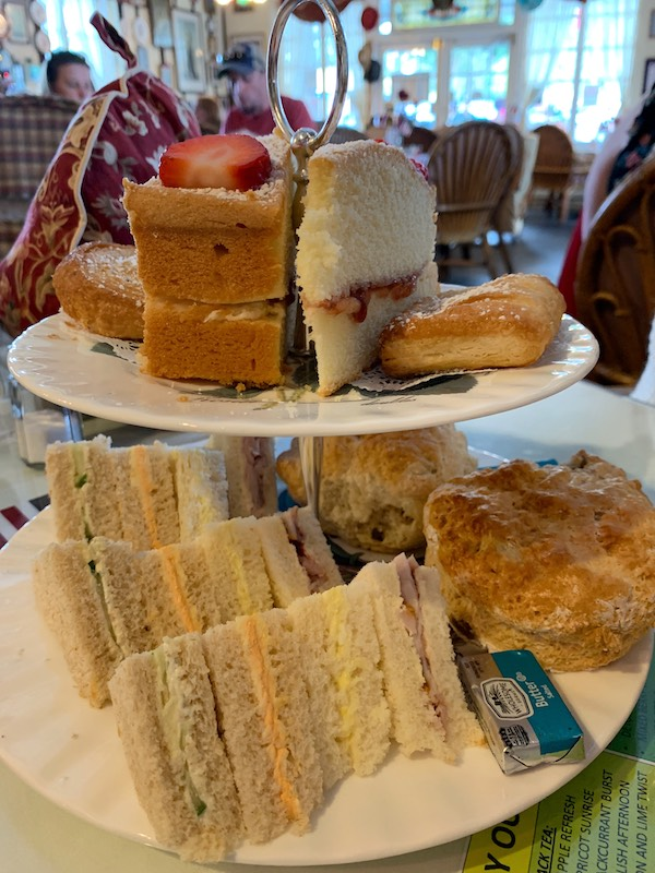 Tea curate at at Windsor Rose Tea Room & Restaurant for afternoon tea in Mount Dora, FL