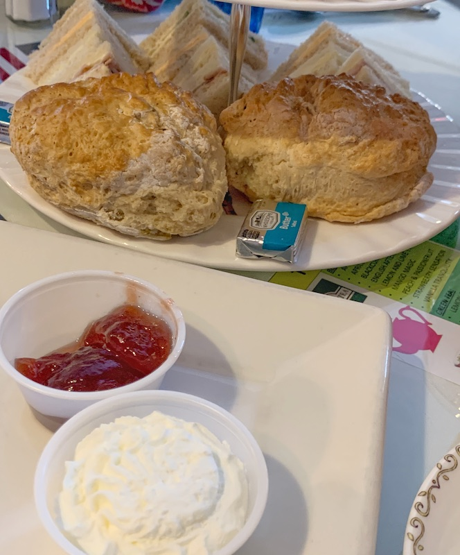 scones and spreads at Windsor Rose Tea Room & Restaurant for afternoon tea in Mount Dora, FL