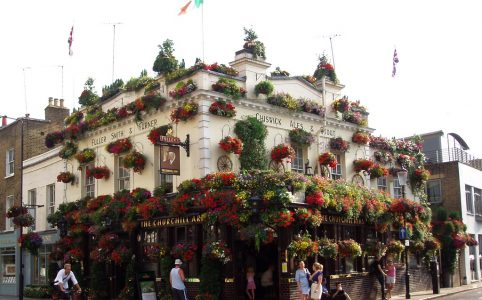 exterior Churchill Arms in London