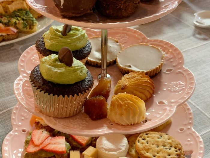 best matcha cupcakes ever at Galentine's High Tea at Peachy Corners Cafe in Peachtree Corners, GA