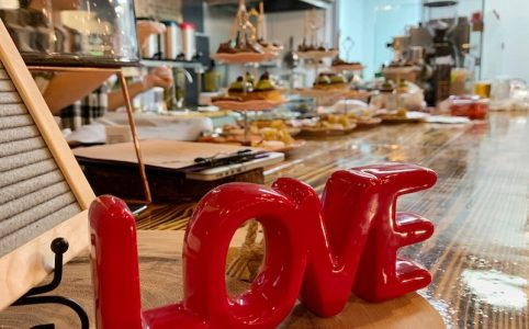 love in the air at Galentine's Tea at Peachy Corners Cafe in Peachtree Corners, GA