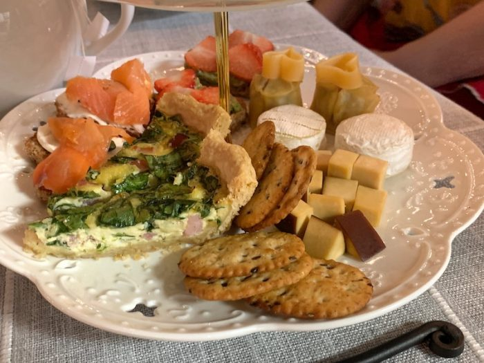 savories at Galentine's High Tea at Peachy Corners Cafe in Peachtree Corners, GA
