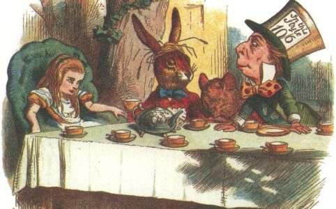 tea party of Alice in Wonderland